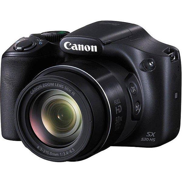Câmera Digital Canon Powershot SX530 Hs Wi-Fi 16.0MP Zoom Óptico 50X Vídeo Full HD