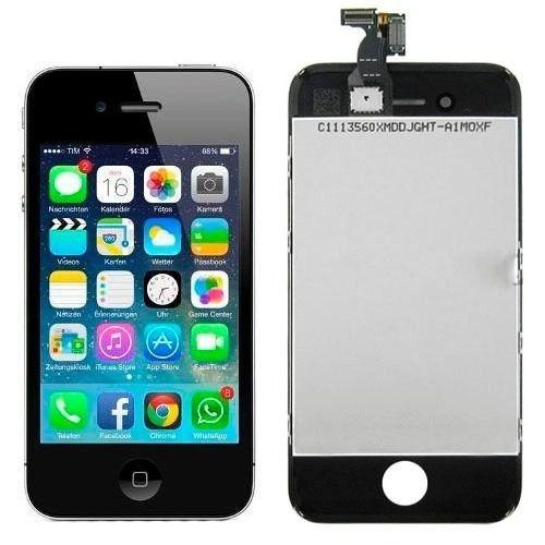 Display Tela LCD Touch Vidro Lente Apple iPhone 4S - Preto