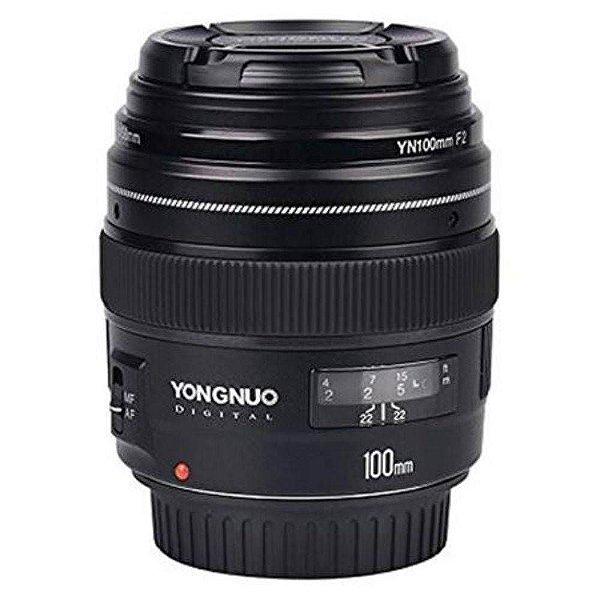 Lente Objetiva Yongnuo Yn100mm F/2.0 Para Câmeras Canon