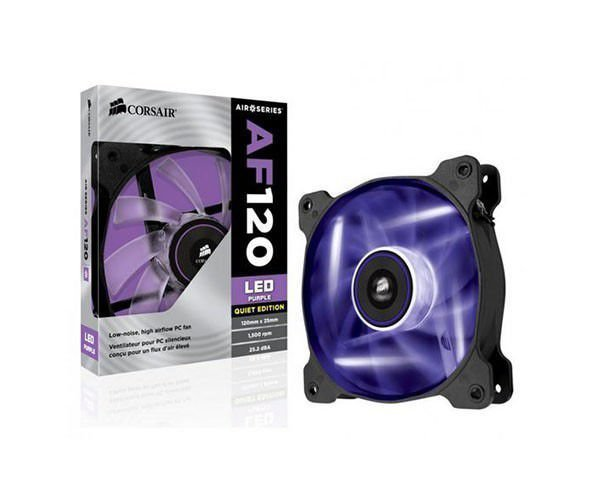Cooler Para Gabinete Corsair AIR AF120 Led Roxo CO-9050015-PLED