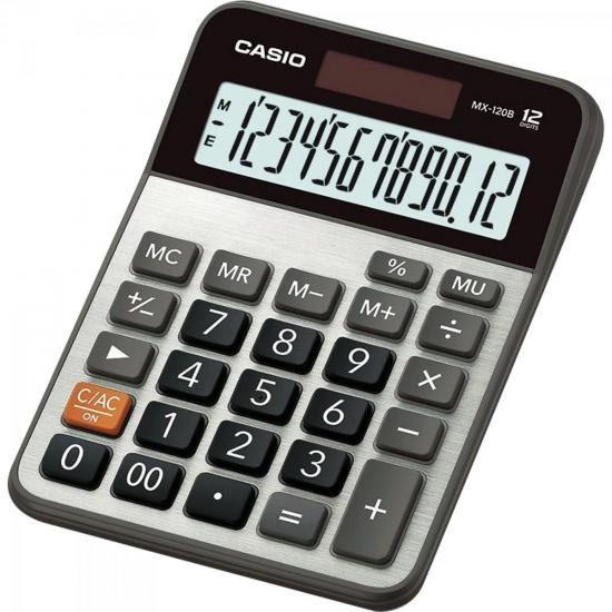 Calculadora De Mesa 12 Dígitos Mx-120b Cinza Casio