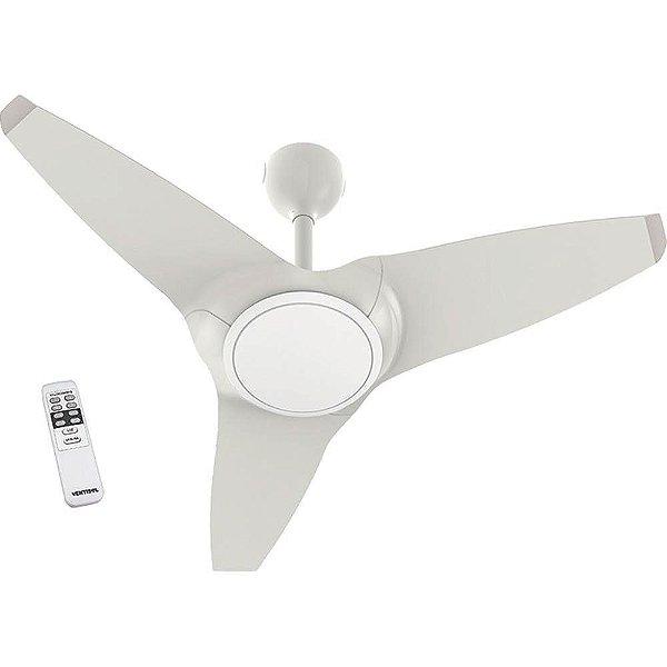 Ventilador de Teto Flow Branco com Led e Controle Remoto - Ventisol