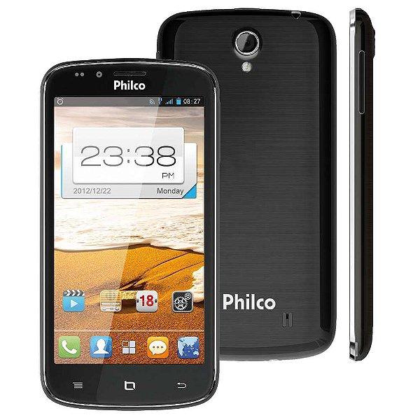 "Smartphone Philco Phone 530 2 Chips 4GB 8MP Tela 5,3"" Android 4.0 3G Wifi - Grafite"