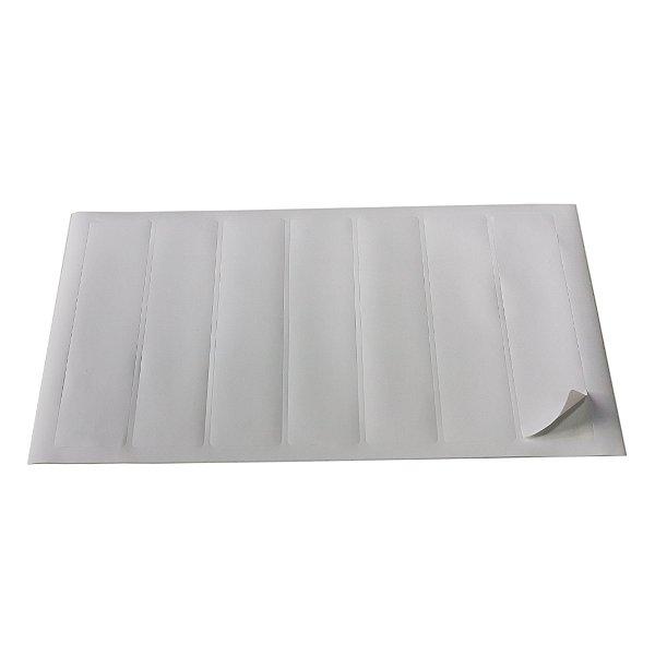 Etiqueta adesiva branca para pasta dígito-terminal, 195 x 40mm - 50 fls