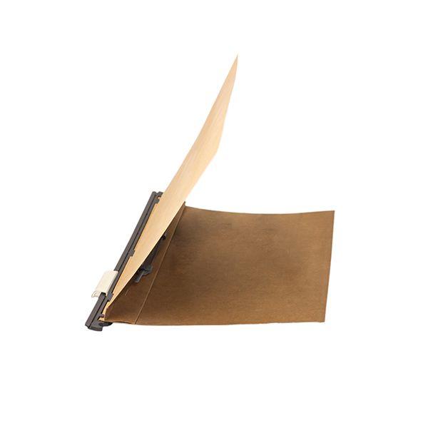 Pasta suspensa papéis fixos, 235mm altura, cartão kraft 300g, com grampo plástico - 25 un