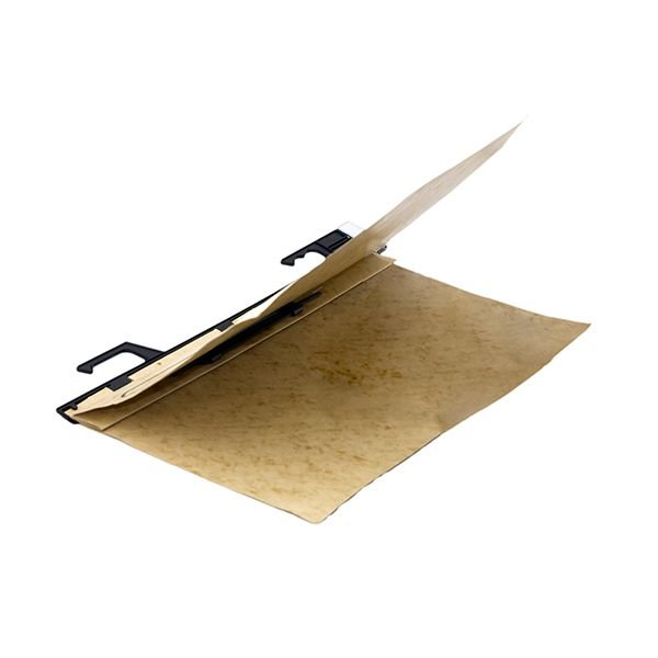 Pasta pendular papéis fixos, 235mm altura, cartão timbó 350g, com grampo plástico - 25 un