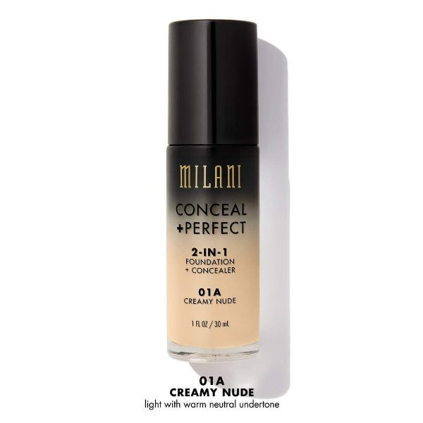 Milani - Conceal + Perfect 2-In-1 Foundation - 01A - Creamy Nude