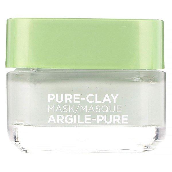 L'Oreal - Máscara de argila Pure-Clay, Purify & Mattify - 48g