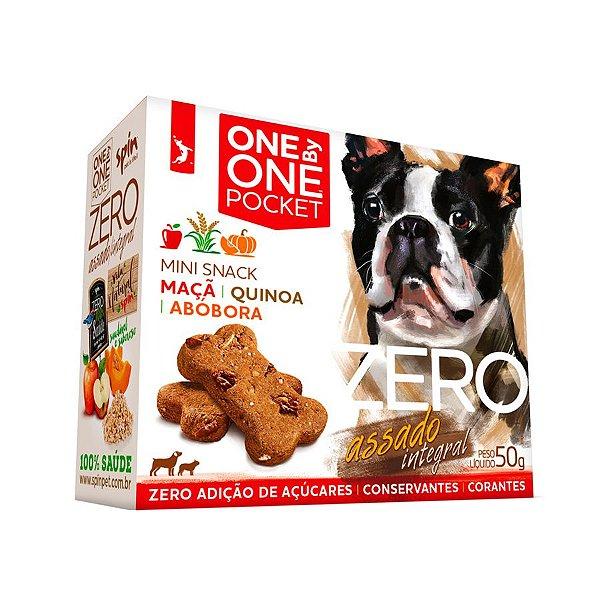 Petisco Mini Snack ZERO POCKET Spin Pet - 50g - Maca + Abobora + Quinoa