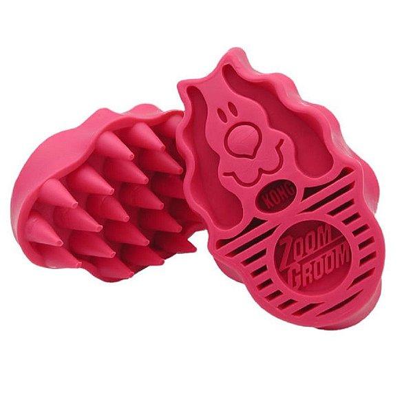 Escova Massageadora Kong Zoomgroom Rosa