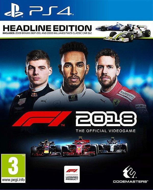 F1 2018 HEADLINE EDITION - PS4 - Mídia Digital