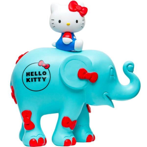 Hello Kitty Sitting Bow Blue - 10 cm