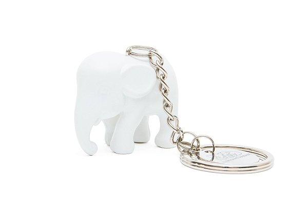 Chaveiro Elefante Branco de Silicone