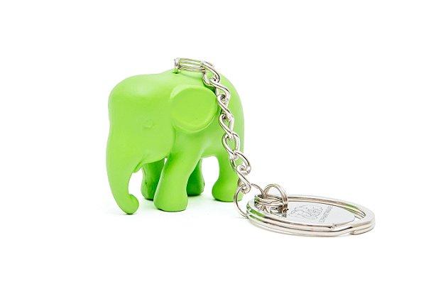 Chaveiro Elefante Verde de Silicone