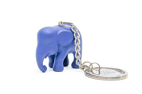 Chaveiro Elefante Azul- escuro de Silicone