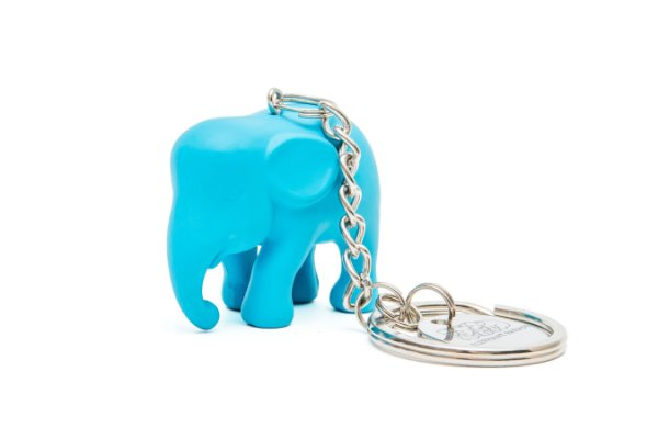 Chaveiro Elefante Azul- claro de Silicone