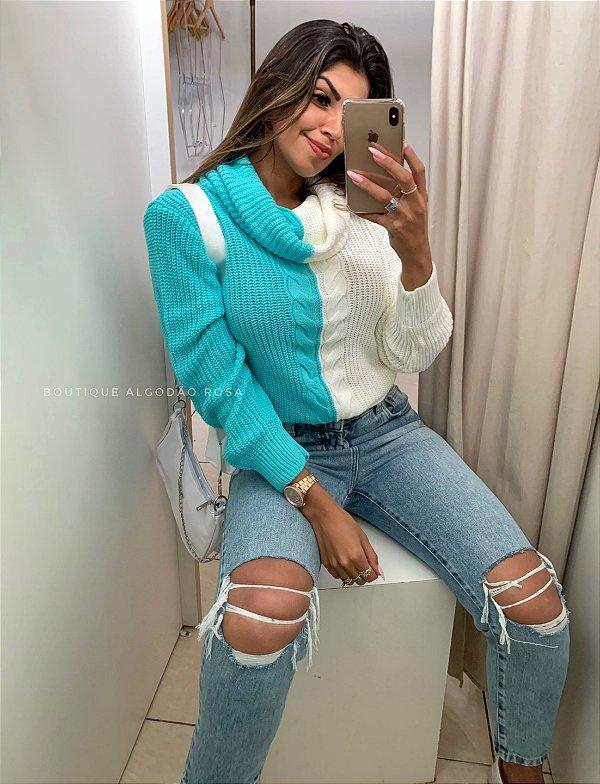 Blusa Mesclada Azul