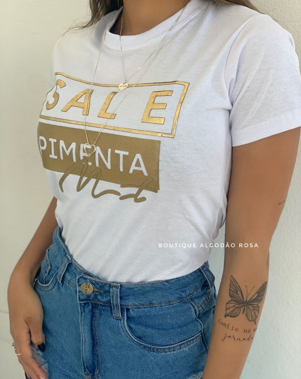 T-shirt Paty Sal e Pimenta