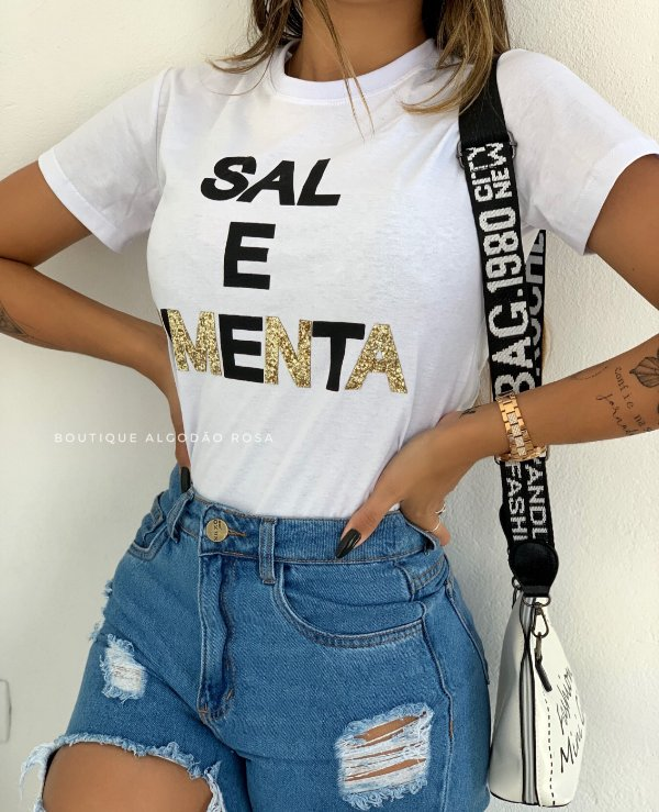 T-shirt Bela Sal e Pimenta