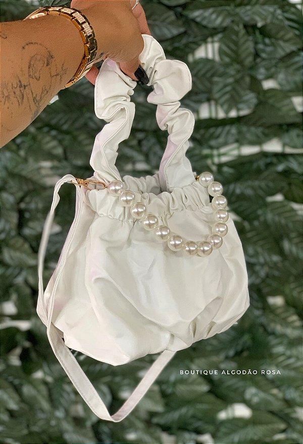 Bolsa Pérola Branca