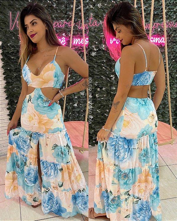 Vestido Pamela Azul