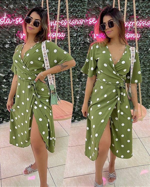 Vestido Poa Verde