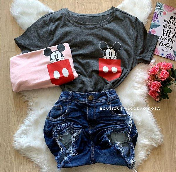 T-shirt Mickey Bolso Vermelho