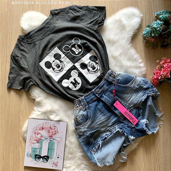 T-shirt Mickey Quadrados