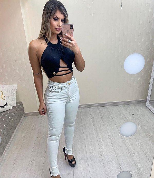Calça Jeans Cristal Sal e Pimenta