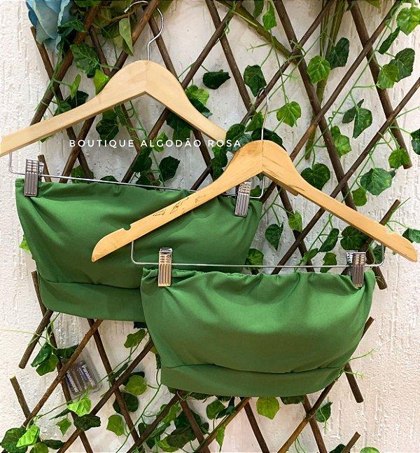 Cropped faixa verde