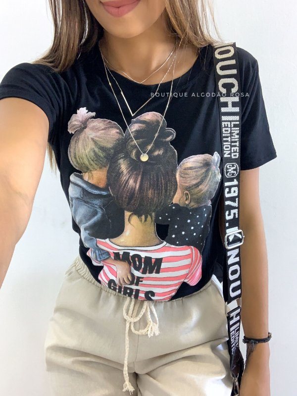 T-shirt Mãe de Meninas
