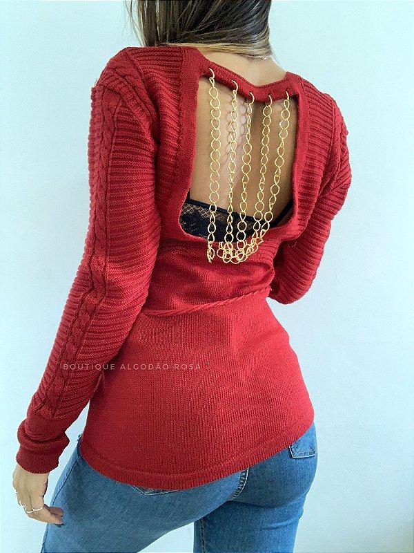 Blusa Correntes Vermelha