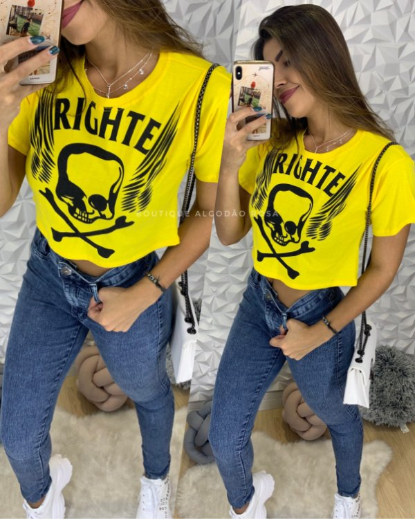 Cropped Righte Amarelo