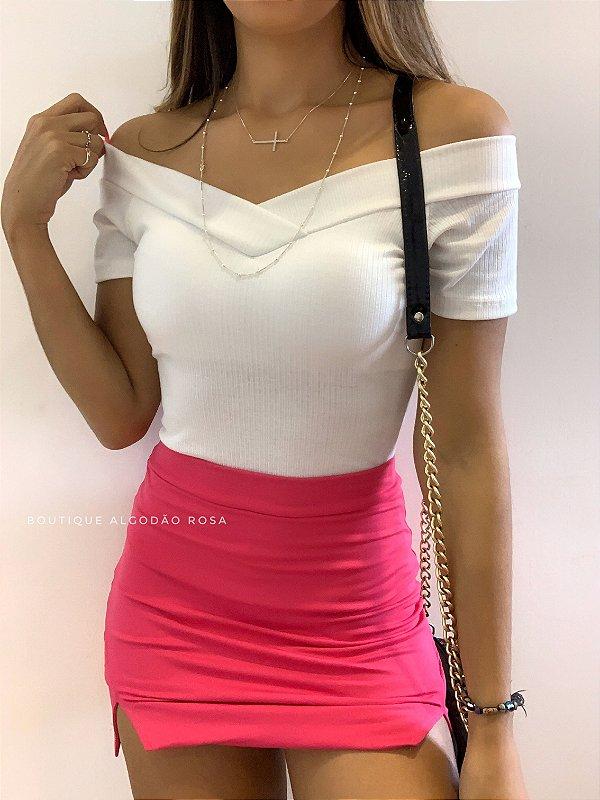 Short Saia Rosa
