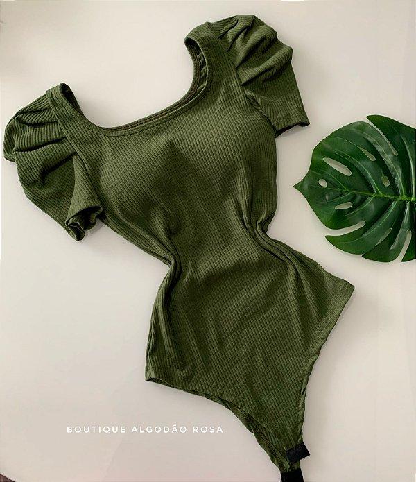 Body Manguinha Princesa Verde