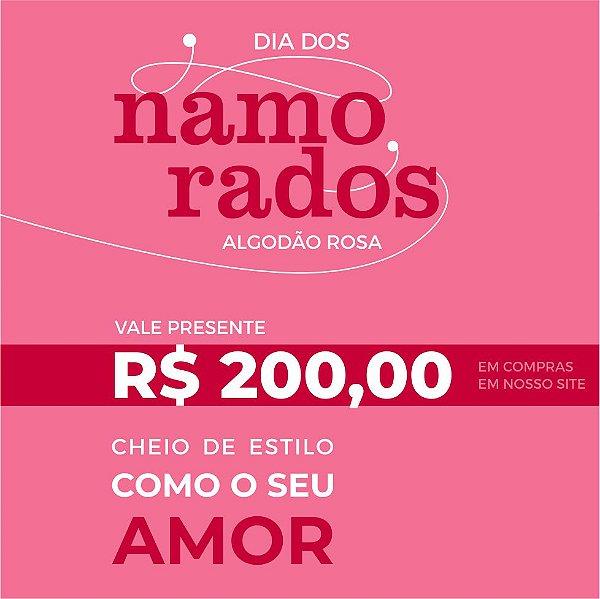 Vale Presente 200,00 reais