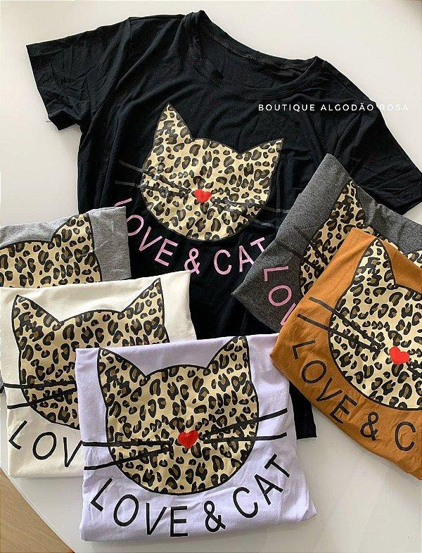 T-shirt gato onça