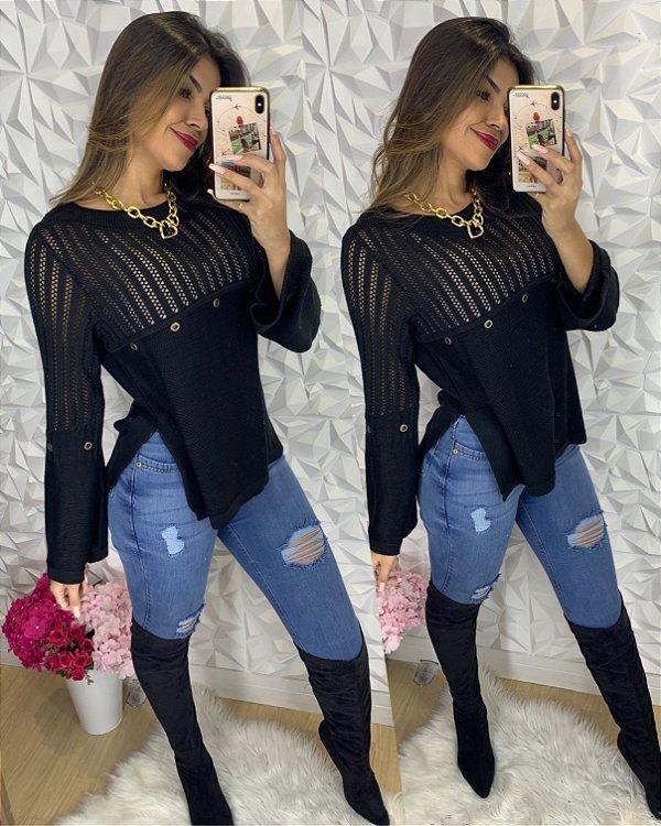 Blusa Bianca Preta