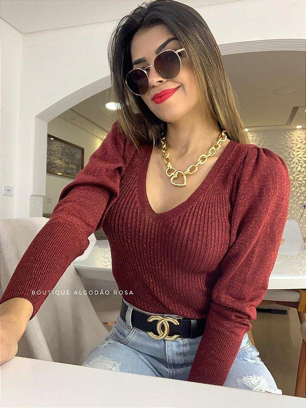 Blusa Princesa Brilho Vermelha