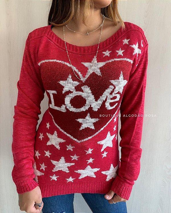 Blusa Love Vermelha
