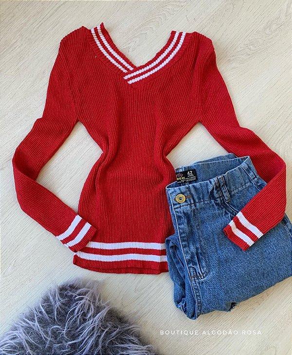 Blusa Colegial Vermelha
