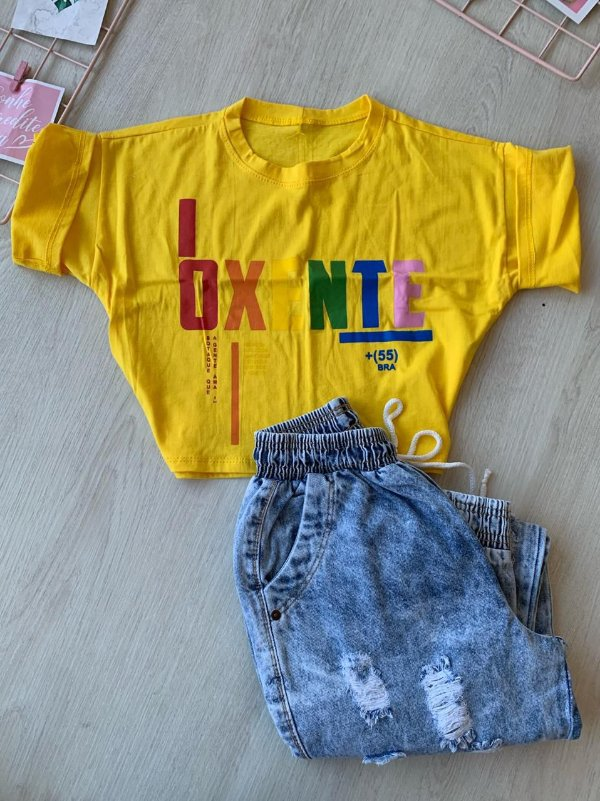 Cropped Oxente Amarelo