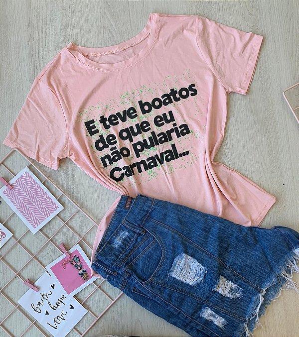 T-shirt Teve Boatos Rosa