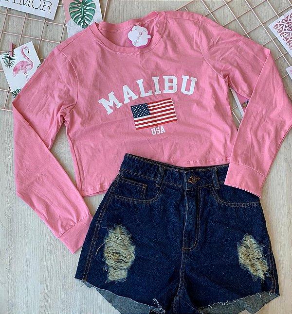Cropped Malibu Rosa