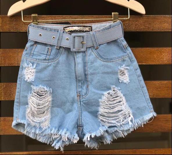 Short Cintinho Jeans