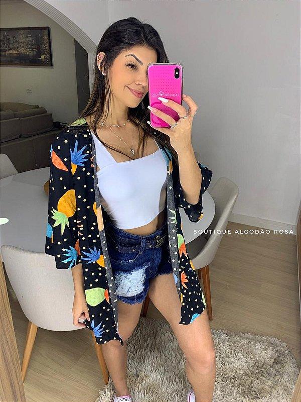Kimono Abacaxi Preta