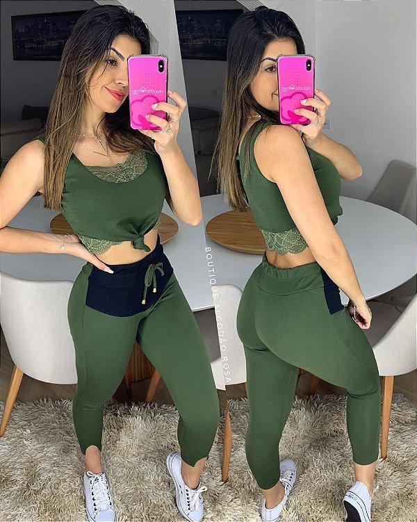 Conjunto Melissa Cropped Verde