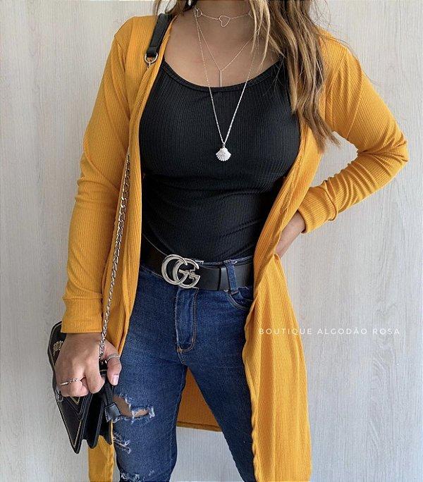 Cardigan Amarelo
