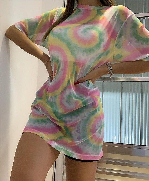 Vestido Tule Tie Dye
