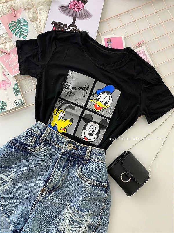 T-shirt Disney Preta